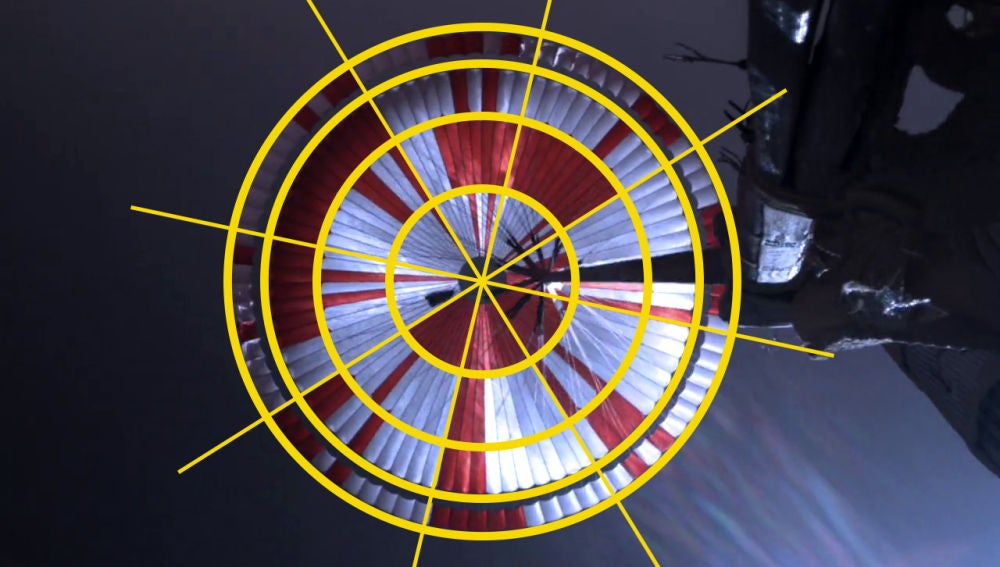 Paracaídas de la misión Perseverance de la NASA
