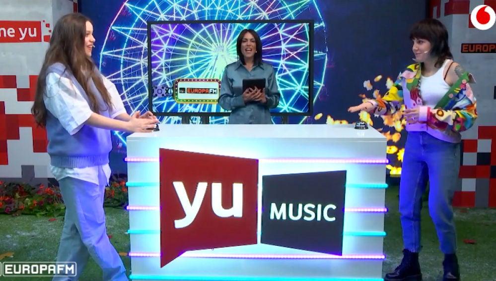 Eva B y Angy Fernández se enfrentan en 'Adivina la canción'.