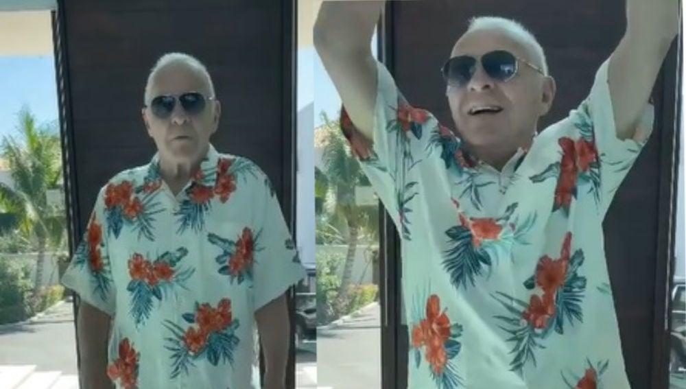 Anthony Hopkins bailando a Elvis Crespo