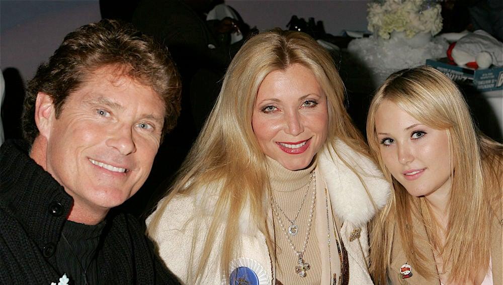 David Hasselhoff y Pamela Bach junto a su hija Hailey
