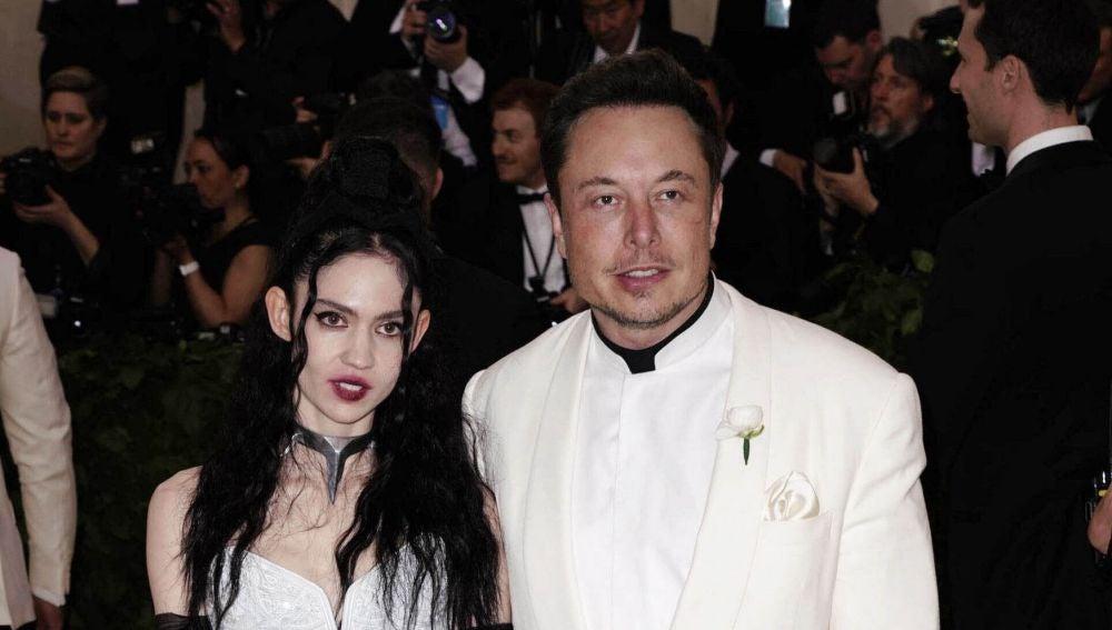 Claire Elise Boucher y Elon Musk