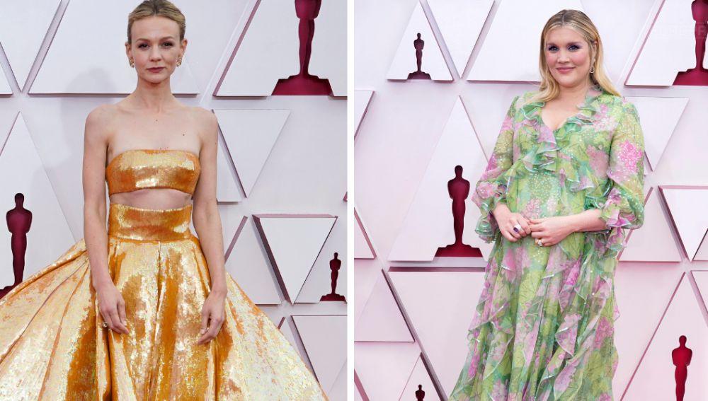 Carey Mulligan y Emerald Fennel en la alfombra roja de los Oscar 2021