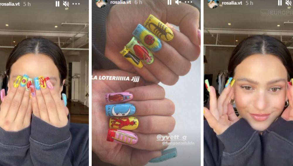 Rosalía muestra su nueva manicura inspirada en el Tarot