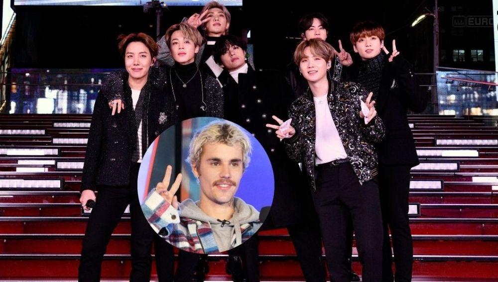 Justin Bieber y BTS, ¿colaboración a la vista?