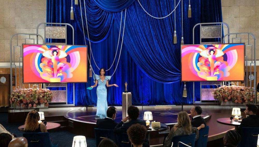Un momento de la gala de los Oscar 2021.