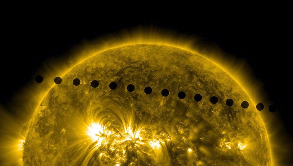 Venus en su recorrido alrededor del Sol
