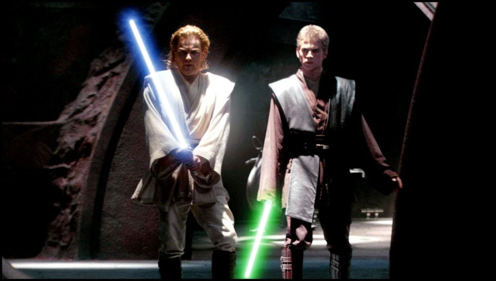 Espadas láser utilizadas por Obi Wan y Anakin Skywalker
