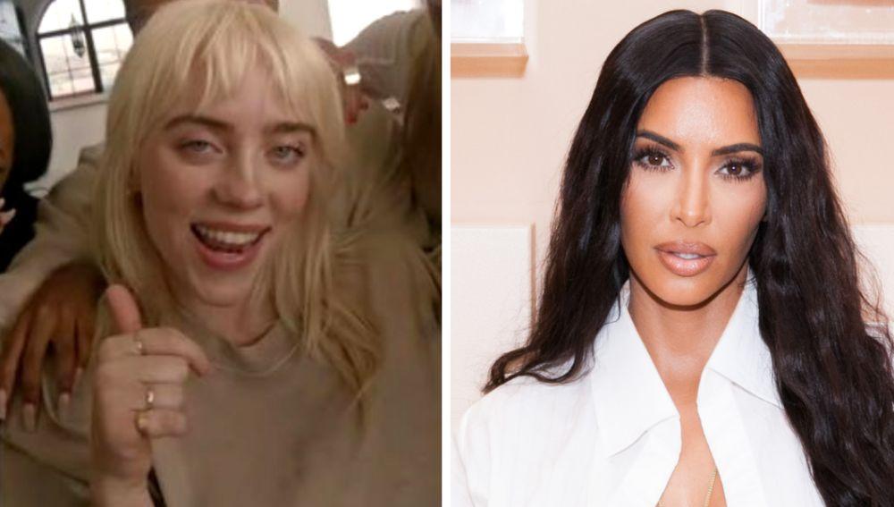 Billie EIlish viste Skims de Kim Kardashian en 'Lost Cause'
