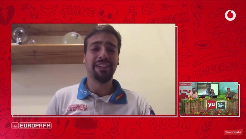 Jorge Prieto, el enfermero del discurso viral del Wanda: