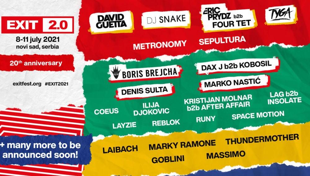 Cartel de Exit Festival para 2021