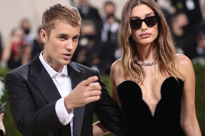 Justin Bieber y Hailey Bieber, en la MET Gala 2021