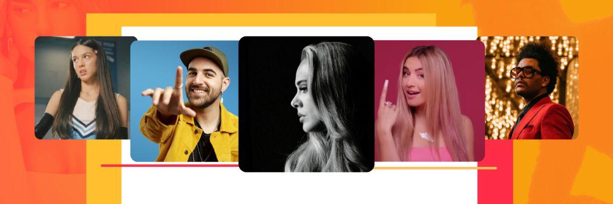 Adele, Måneskin, Lola Índigo, The Weeknd, Nil Moliner... ¡45 canciones que no te puedes perder!