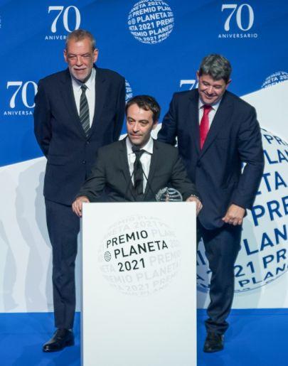 Jorge Díaz, Agustín Martínez y Antonio Mercero, los tres escritores tras el seudónimo Carmen Mola.