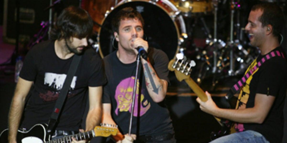 El Canto del Loco durante su concierto en Caracas