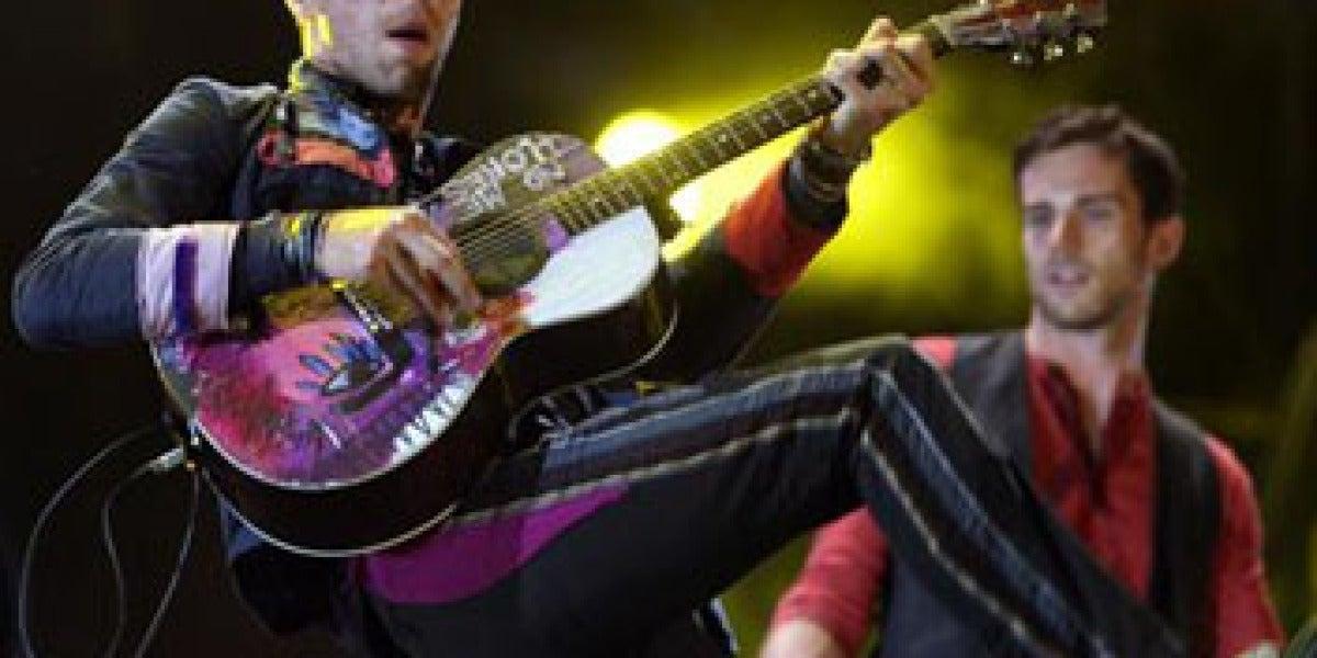 """Coldplay en el concierto de Barcelona de su gira """"Viva la vida"""""""