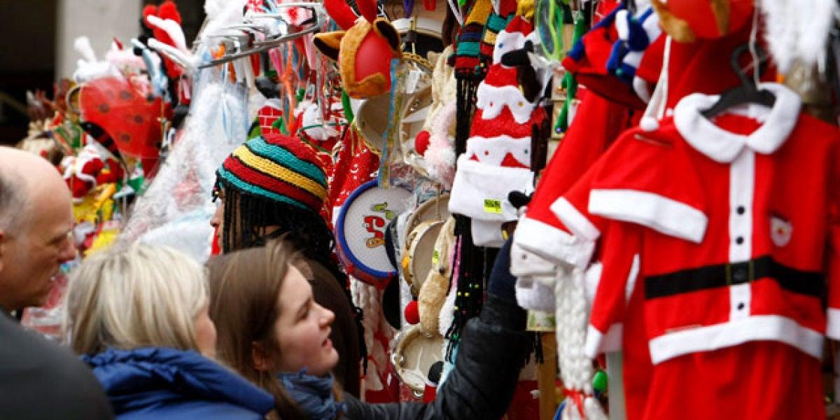 Mercadillo de Navidad de la Plaza Mayor de Madrid
