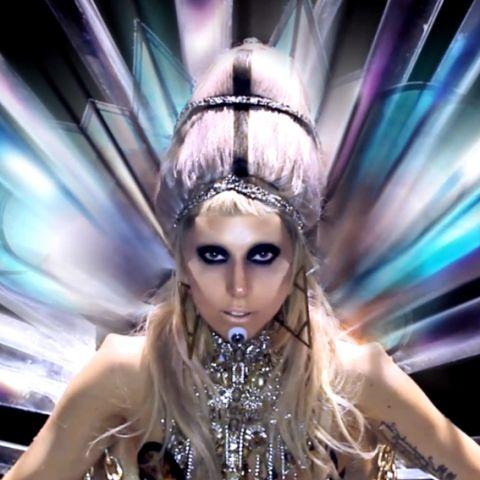 Lady Gaga en el videoclip de 'Born This Way'