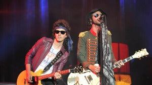 El grupo Pereza en una actuación del Rock in Rio Madrid 2010.