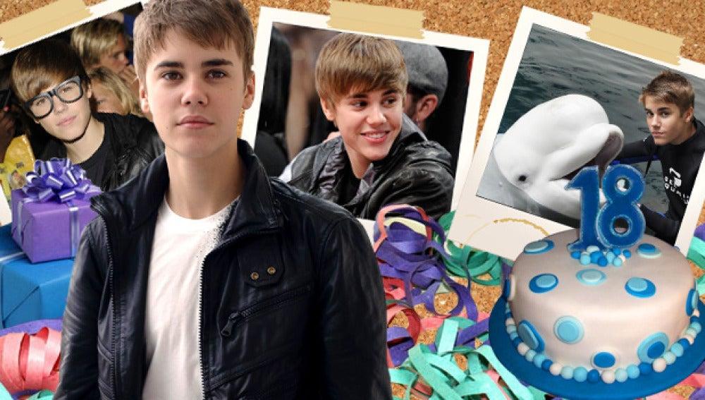 Justin Bieber cumple 18 años