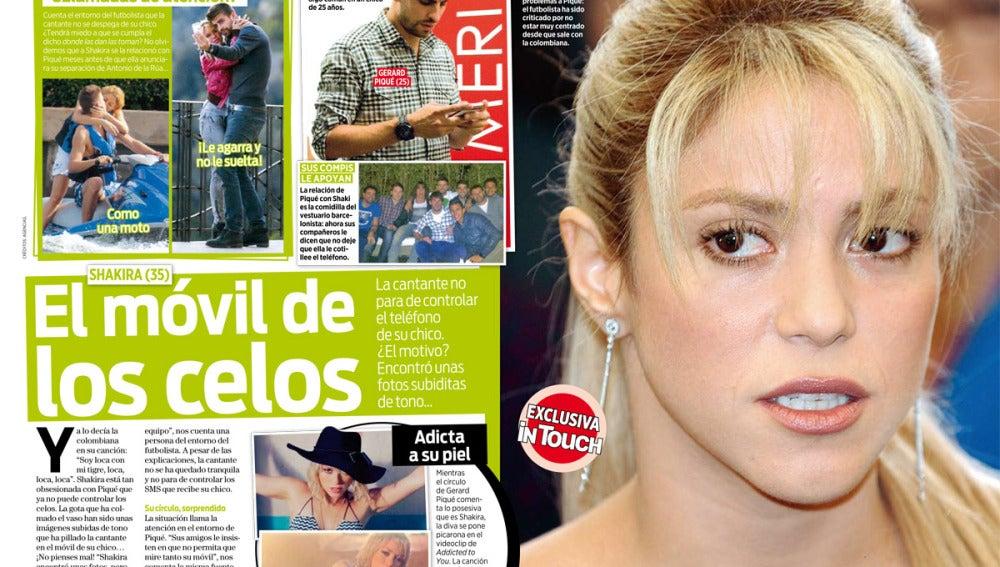 La cantante controla el móvil de su chico, Piqué