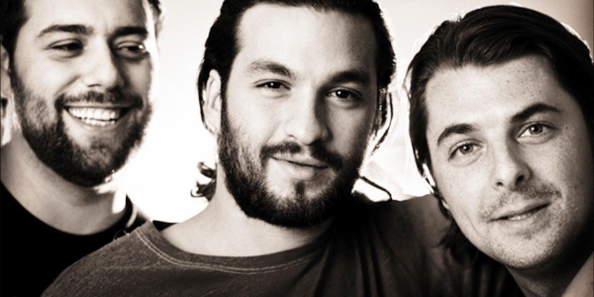 Imagen de archivo del trío sueco Swedish House Mafia.