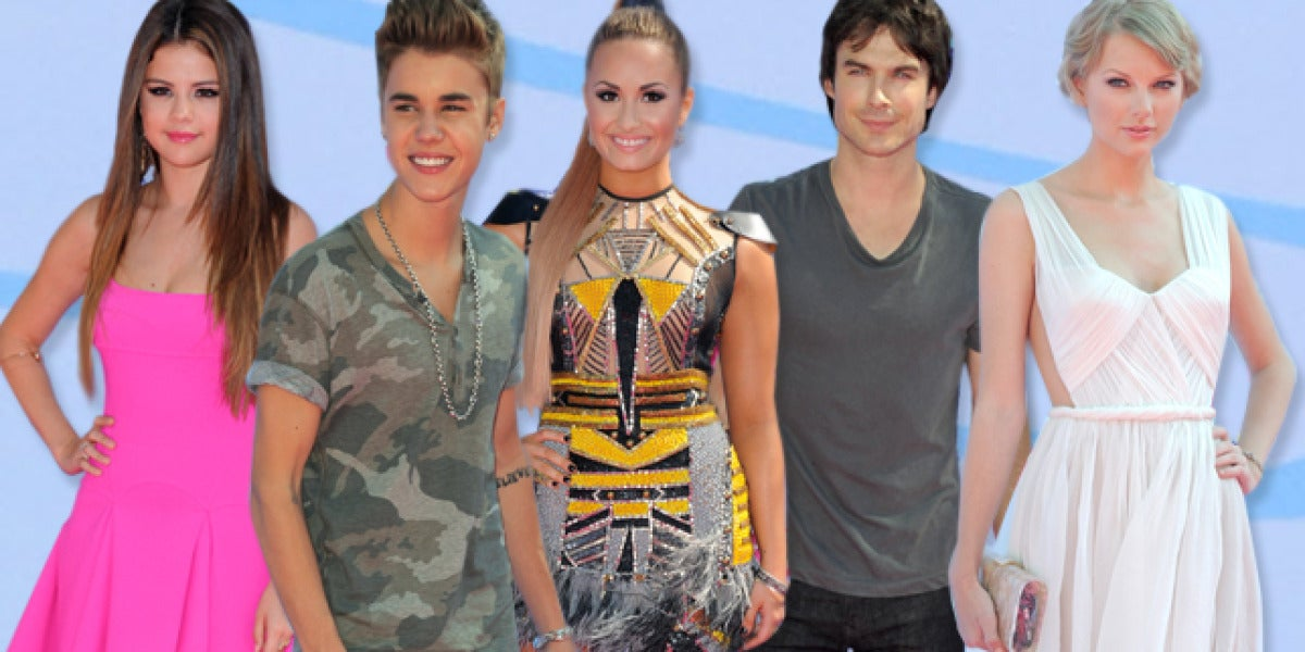 Las celebrities surfean los Teen Choice 2012
