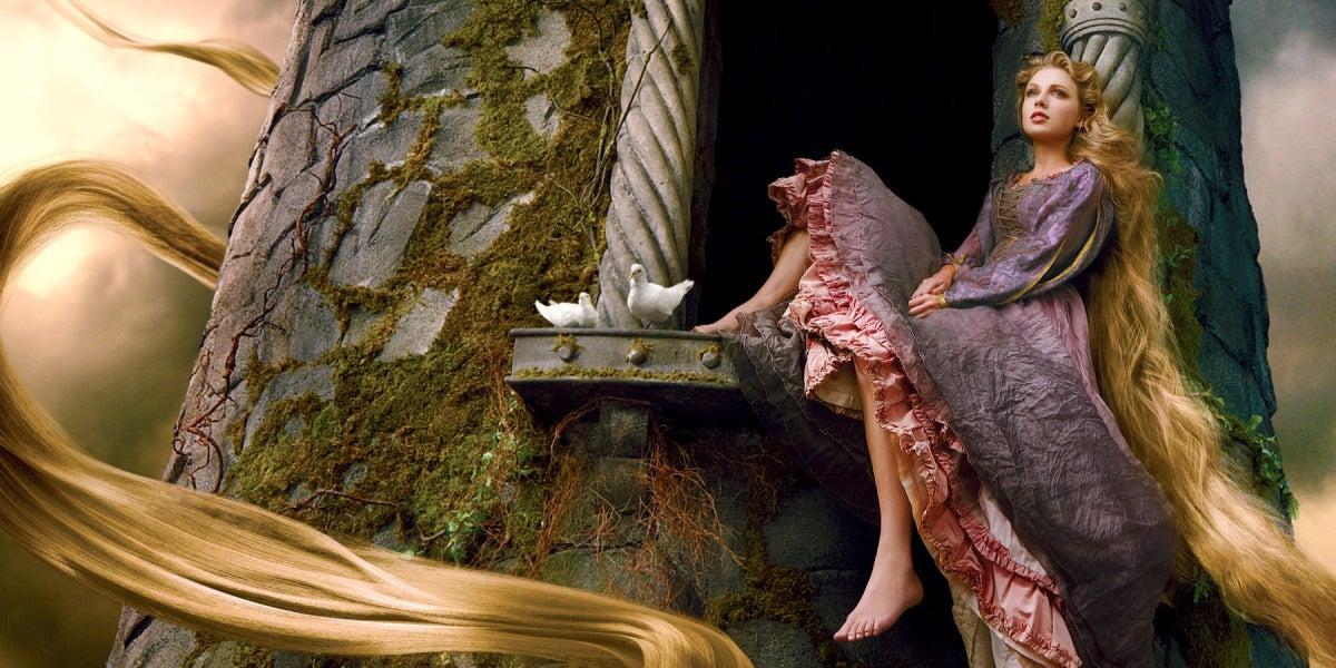 Taylor Swift convertida en la princesa Rapunzel por Annie Leibovitz
