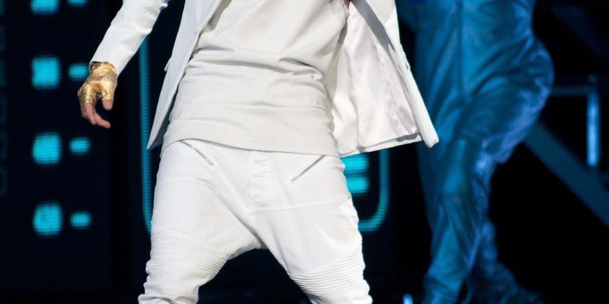 Justin Bieber durante uno de sus últimos conciertos