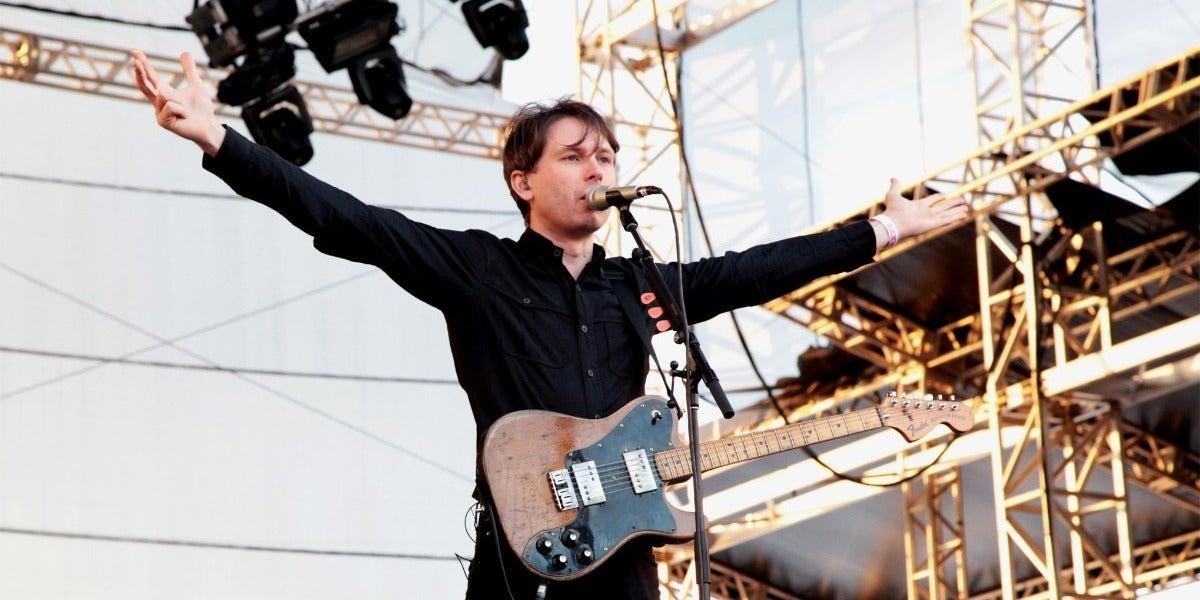 Alex Kapranos durante un concierto en 2013