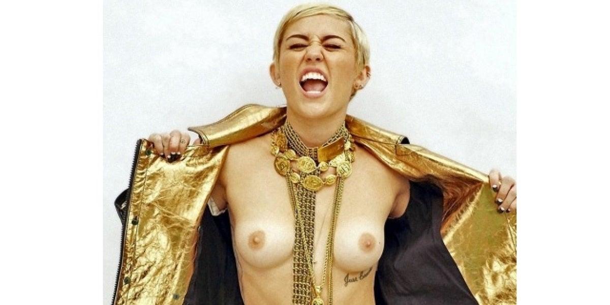 Miley Cyrus en topless para 'Egostatic'