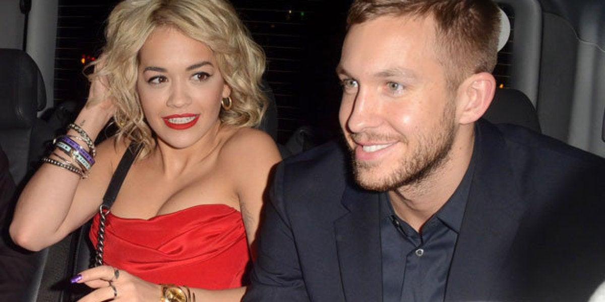 Rita Ora junto a Calvin Harris