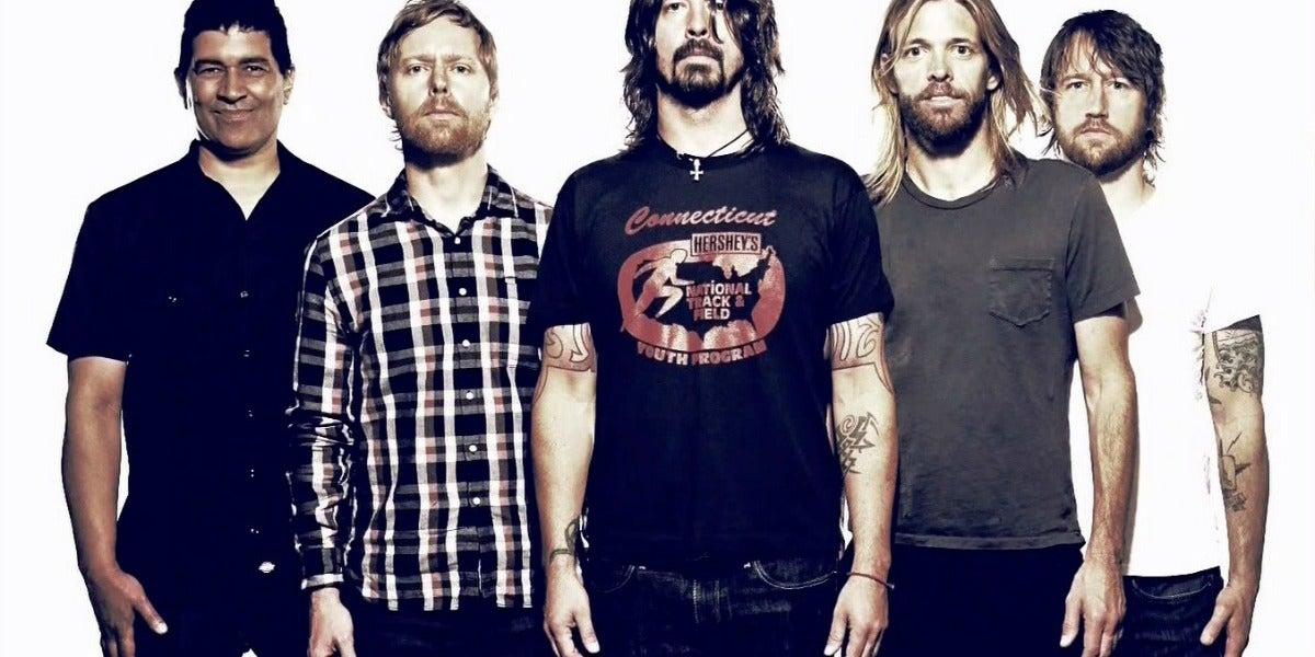 El grupo de rock Foo Fighters