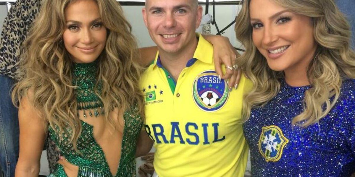Jennifer Lopez, Pitbull y Claudia Leitte en la inauguración del Mundial de Brasil 2014