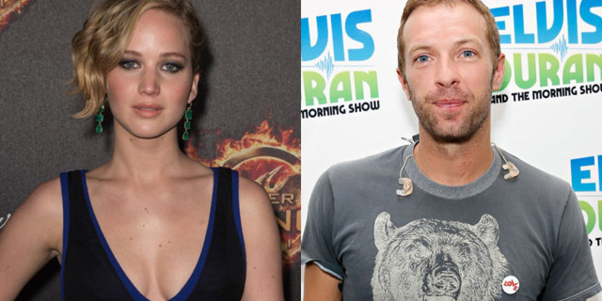 Chris Martin y Jennifer Lawrence