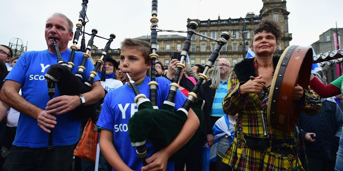 Ambiente festivo en Escocia