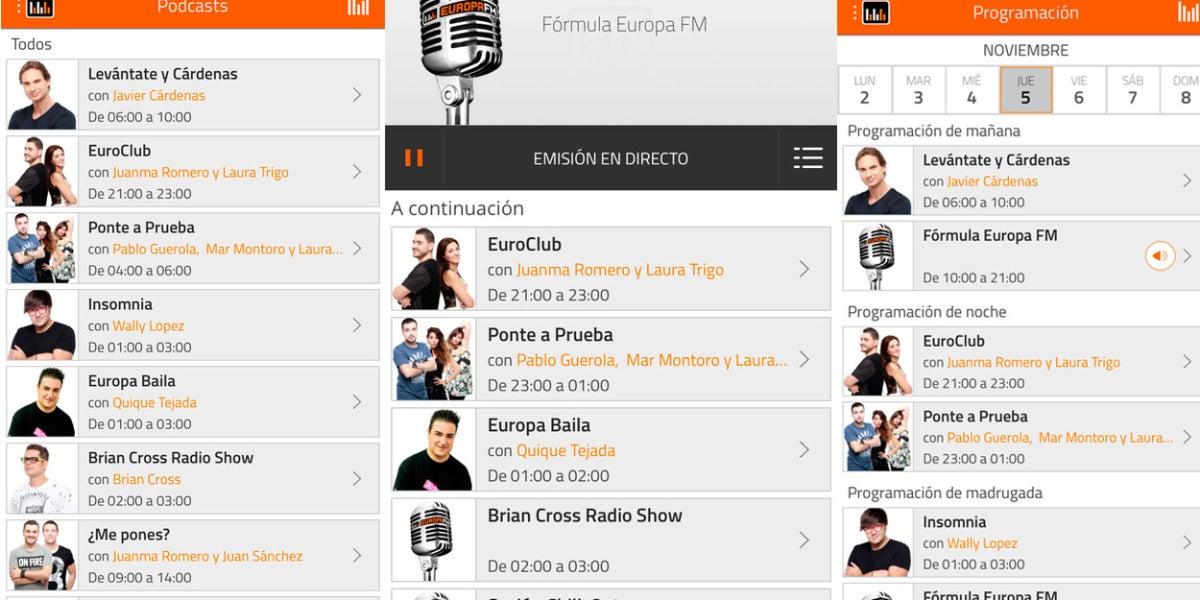 Nueva App de Europa FM