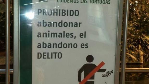 Cartel de ADIF en Atocha