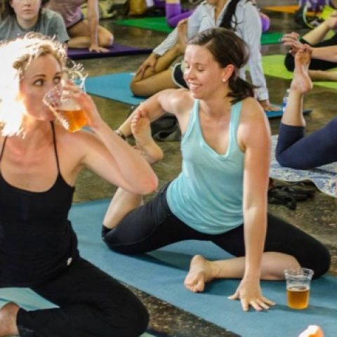 Cerveza y yoga