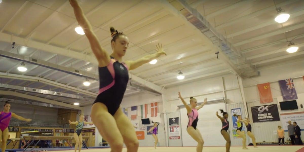 El anuncio muestra el alto nivel del equipo femenino de gimnasia rítmica norteamericano