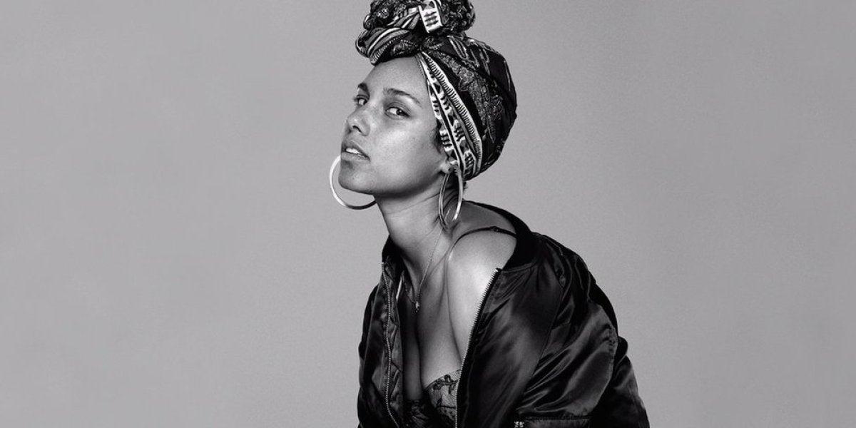 Alicia Keys sin maquillar
