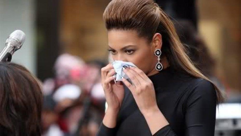 Beyoncé acatarrada