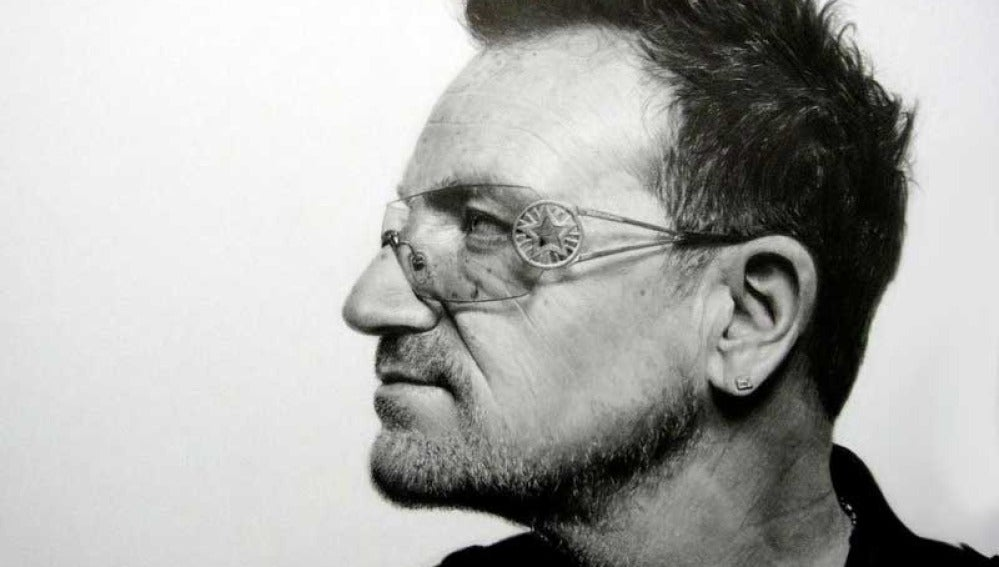 Bono de U2, ¿pintura o fotografía?