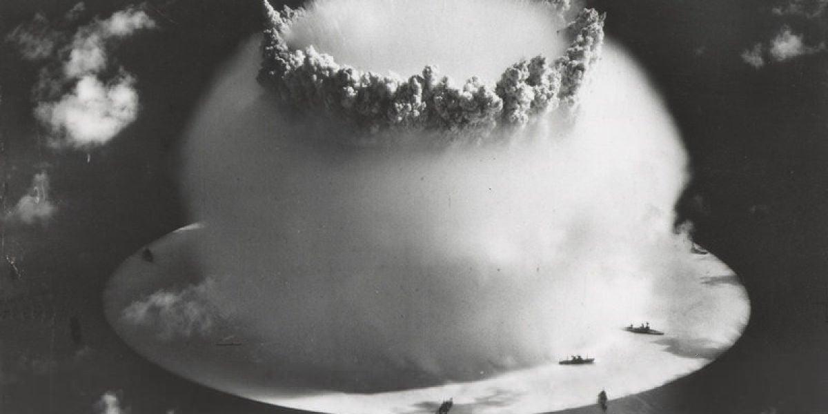 Atolón bikini en una prueba nuclear