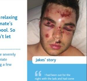Jack Evans, el joven que protagoniza la campaña contra el 'balconing'