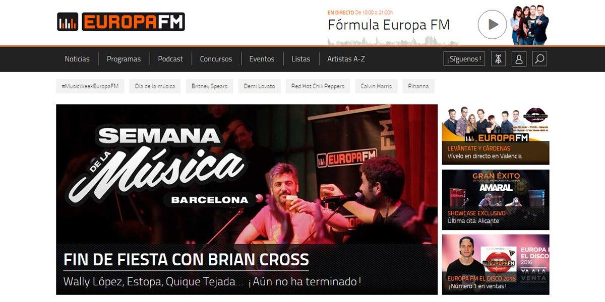 europafm.com supera el millón de usuarios