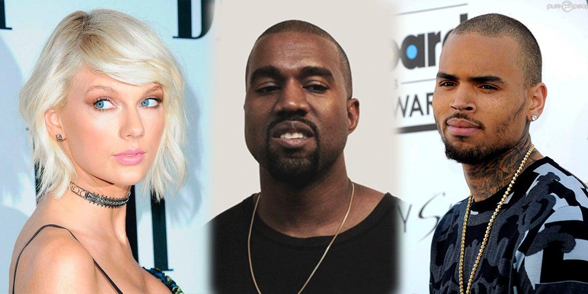 Chris Brown ha arremetido duramente contra Taylor Swift por su polémica con Kanye West