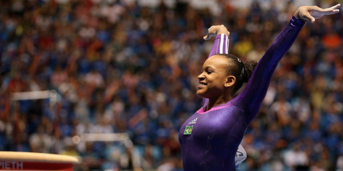 Rebeca Andreda realizando uno de sus ejercicios en Rio 2016