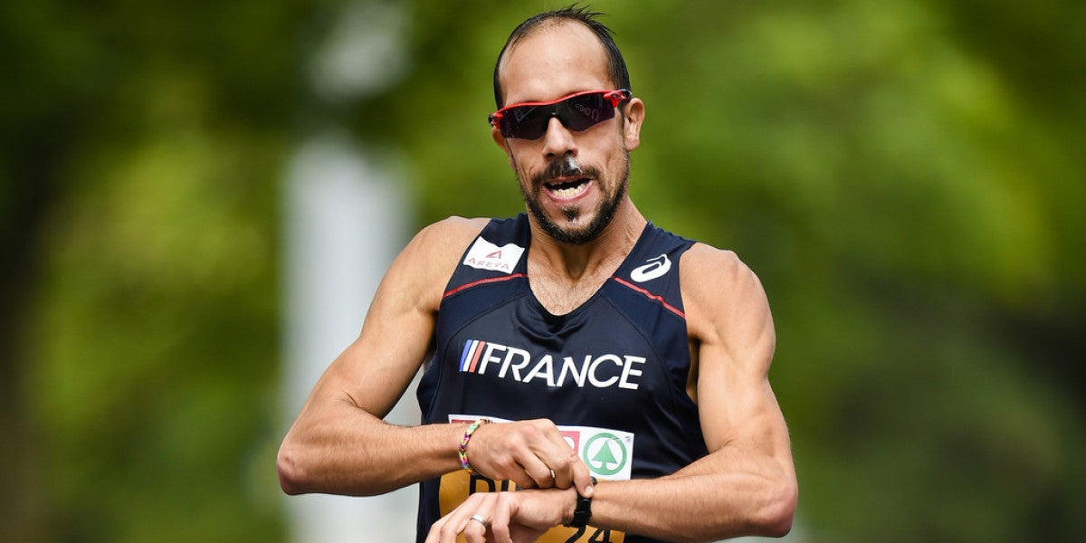 Yohann Diniz al finalizar una de las carreras de los Juegos Olímpicos