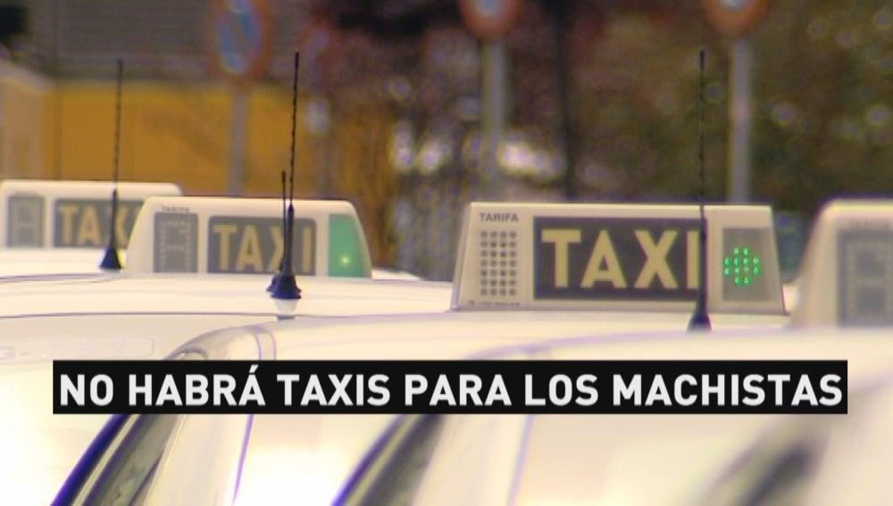 No habrá taxis para los machistas