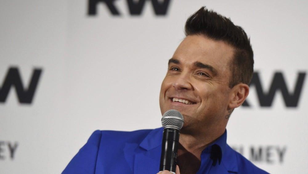 El cantante británico Robbie Williams